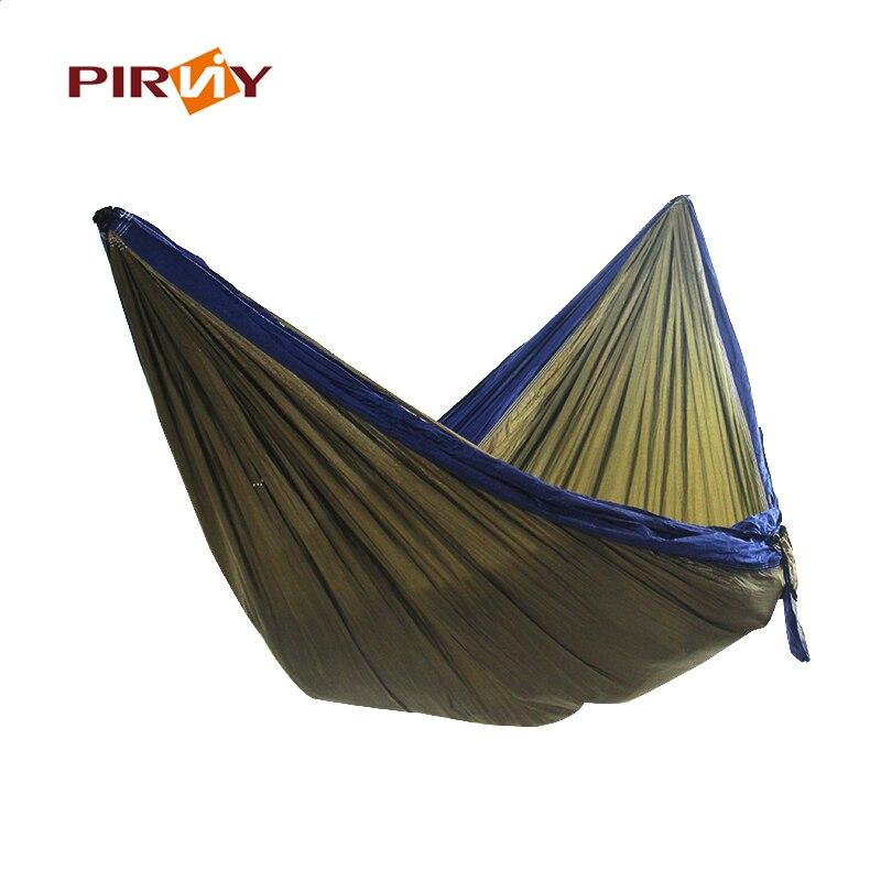Портативный гамак двойной человек кемпинг выживания сад, охоты отдыха и путешествий парашют Гамаки 250*130 см