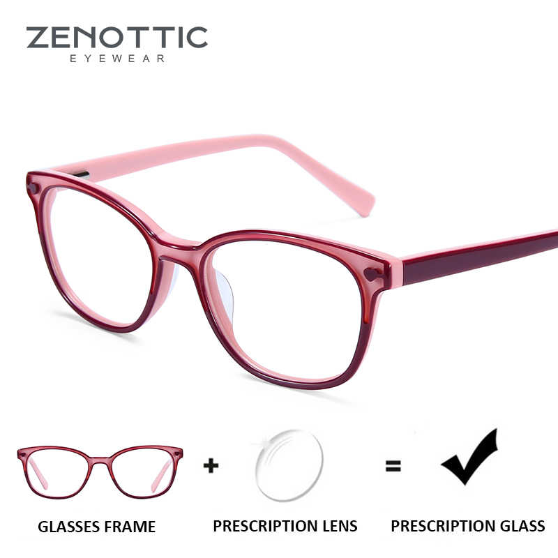 ZENOTTIC Pink Girls Prescription Glasses Child Optical Myopia Eyeglasses Anti-Blue-Ray Clear Lens Photochromic Eyewear girl 2019