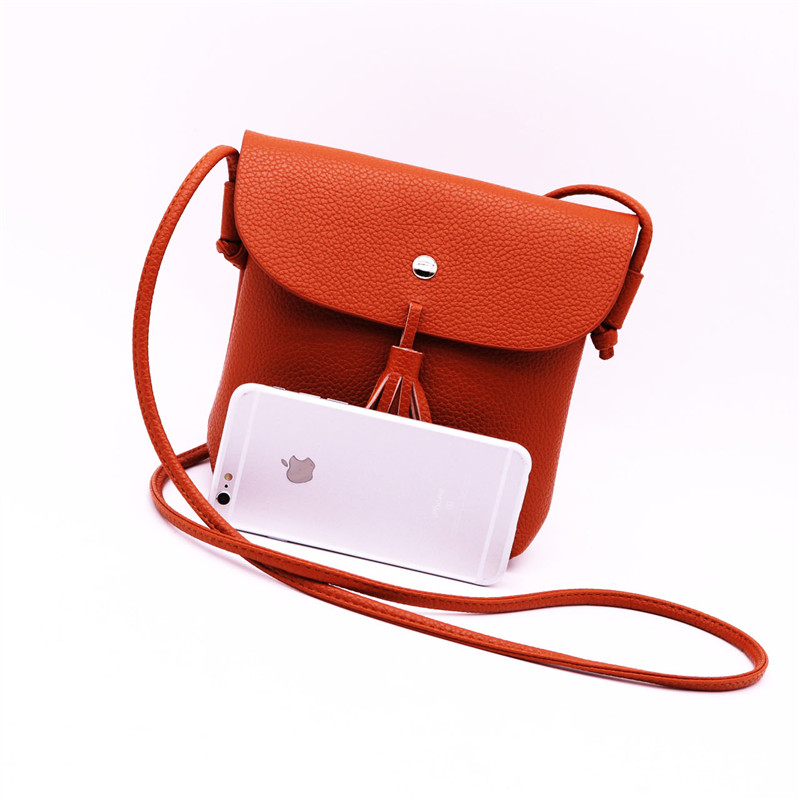 New Women Messenger Bag Camel Color Tassel Women Bag PU Leather Small Bag  Women Cute Shoulder Crossbody Bags For Women Clutch-in Crossbody Bags from  Luggage ... 67b44f002cdc5