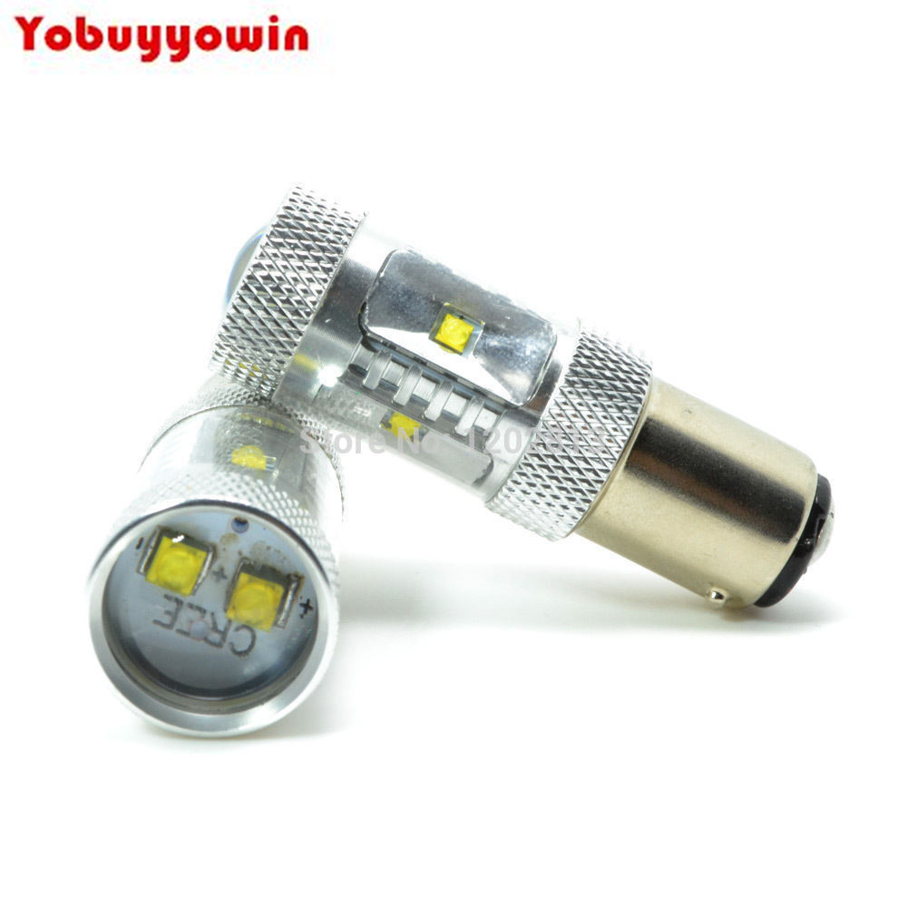 2Pcs CREE Chips Error Free Car <font><b>LED</b></font> 380 1157 <font><b>S25</b></font> (P21/5W) bayonet <font><b>LED</b></font> <font><b>Stop</b></font> and Tail bulbs for cars, vans and motorcycles image