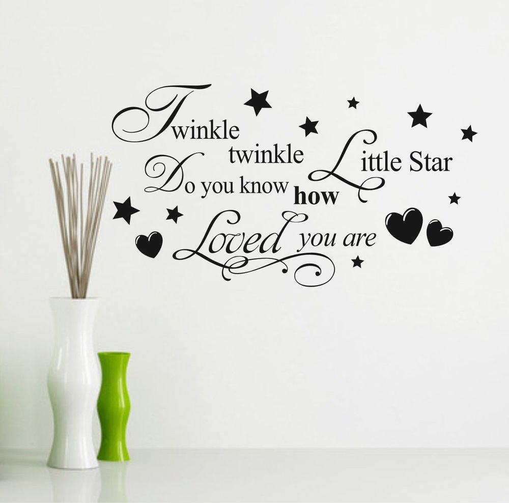 ... Twinkle Twinkle Little Star Wall Stick Baby Room Decor Love Poster PVC  Adhesive Wallpaper ... Part 77