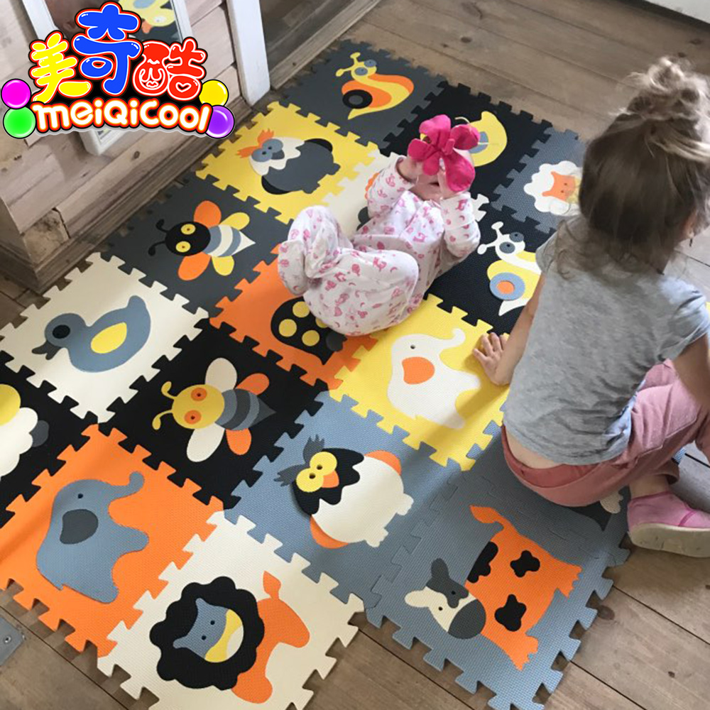 Children's Soft Eva Puzzle Mat Baby Play Carpet Puzzle Animal/letter/cartoon Eva Foam Play Mat,pad Floor For Kids Games Rugs SGS
