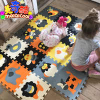 Children's soft eva puzzle mat baby play carpet puzzle animal/letter/cartoon eva foam play mat,pad floor for kids games rugs SGS