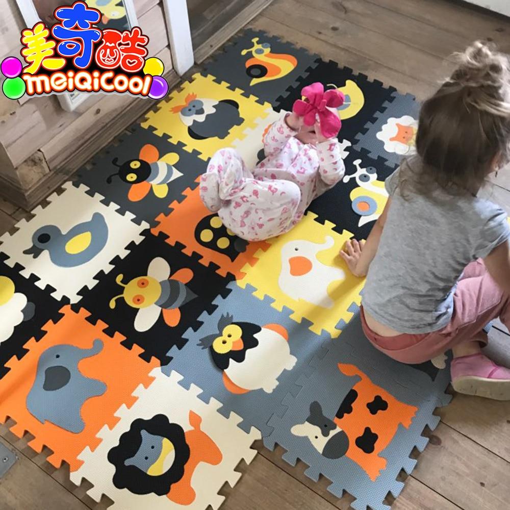 Enfants doux eva puzzle tapis de jeu bébé tapis puzzle animaux/lettre/dessin animé eva tapis de jeu en mousse, coussin de sol pour enfants jeux tapis SGS
