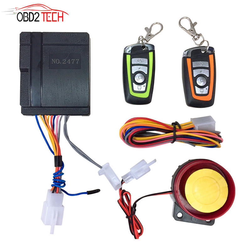 Motorcycle Bike Alarm System Scooter Anti Theft Security