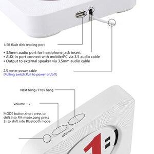 Image 3 - المحمولة CD MP3 بلوتوث لاعب وول ركوب المنزل الصوت Boombox قبل الولادة مع التحكم عن بعد FM راديو USB مكرر