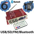 KENTIGER HY-502S Com Adaptador De Alimentação 12V3A 40 W Mini Bluetooth Amplificador + Cabo AV + Controle Remoto USB/SD Leitor de cartão de FM de Rádio