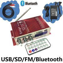KENTIGER HY-502S Avec 12V3A Puissance Adaptateur 40 W Mini Bluetooth Amplificateur + Câble AV + Télécommande USB/SD carte Lecteur FM Radio