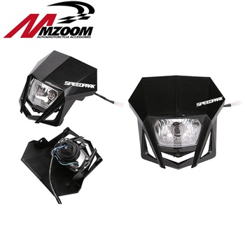 FREE SHIPPING MOTORCYCLE Headlight Fairing Headlamp For KTM 250 150 SX XC MX EXC Supermoto Enduro على