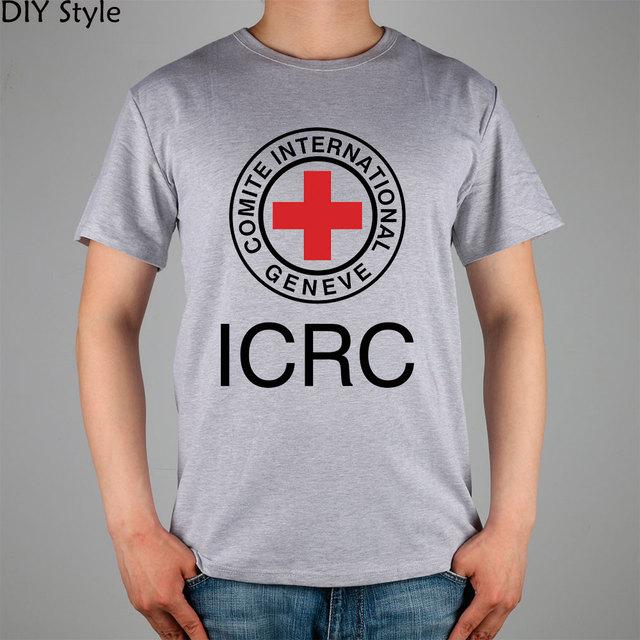 6a508a8f753ac6 ROTES KREUZ T-shirt baumwolle Lycra Fashion Marke t-shirt männer neue hohe  qualität