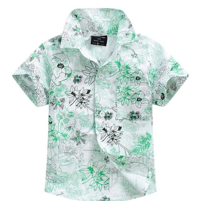 9cef5668d0 2016 novo chegada de algodão 100% camisa floral camisa havaiana aloha shirt  para o menino