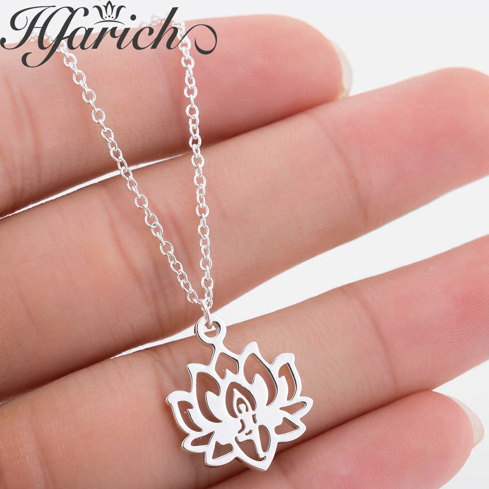 Hfarich Simple Trendy Mandala Lotus Choker Wedding Elegance Charming Pendant Necklace Female Jewelry For Birthday Party Bijoux
