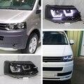 2011-2014 Para Volkswagen Multivan T5 Caravelle Transporte LED Farol Preto JY Habitação
