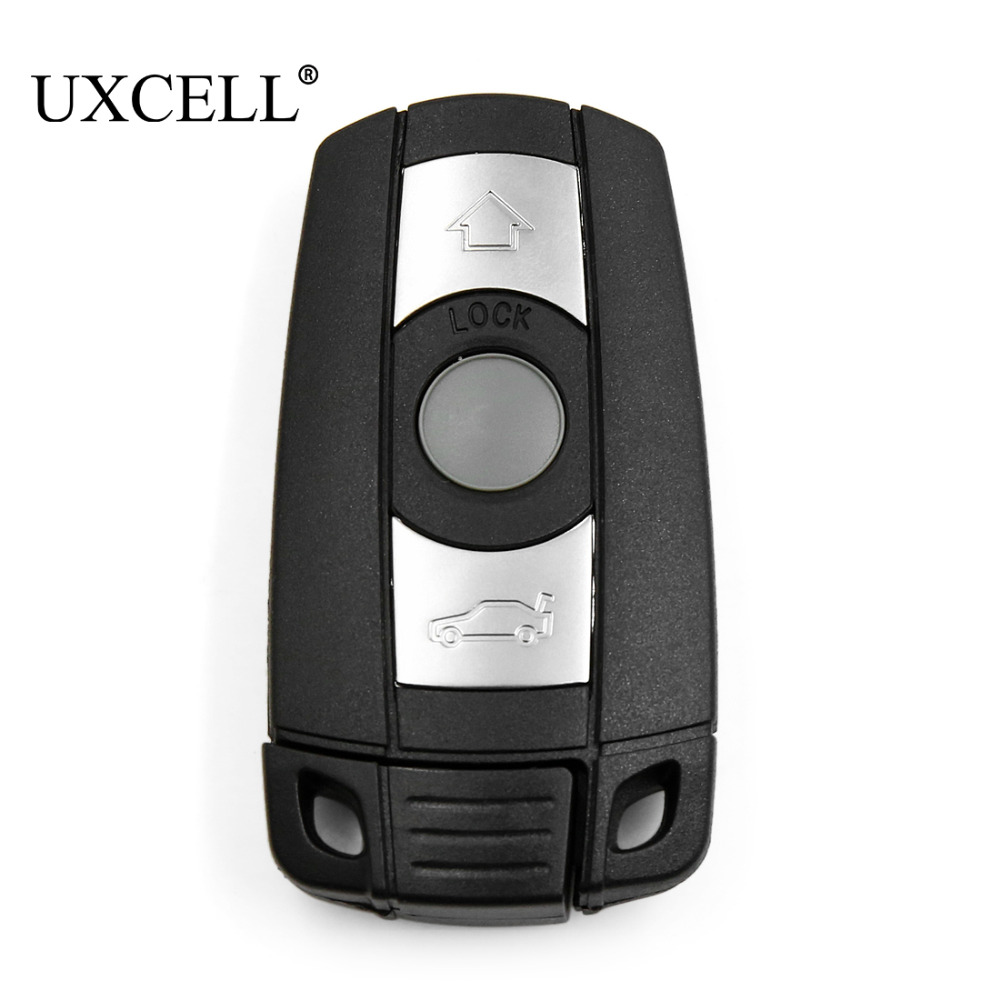 UXCELL 3 Buttons Insert Key Fob Remote Case Shell Replacement For KR55WK49127 KR55WK49123 For BMW 1 3 5 7 Series E90 E92 E93