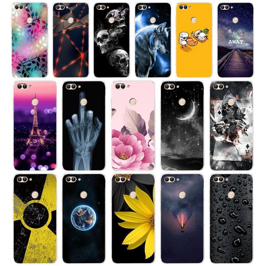 K Huawei P Smart Case TPU Soft Silicone Transparent Back Cover Phone Case Huawei P Smart Cover FIG-LX1 Enjoy 7S Case