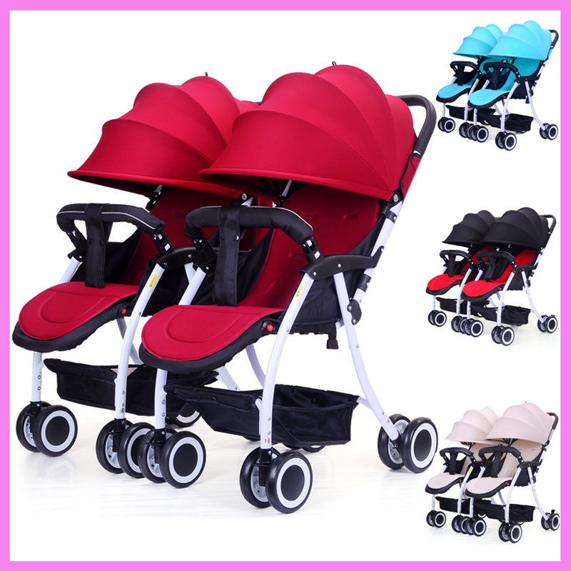Twins Baby Stroller Can Split Baby Carriage Two-child Trolley Can Sit and Lie Double Baby Stroller for Twins Two Baby Pushchair brand baby twins strollers babyruler twins baby stroller folding double stroller child baby stroller