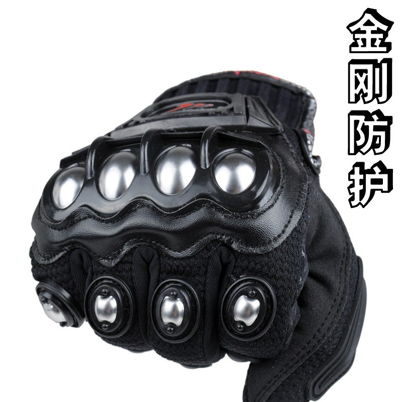 The recommended summer racing motorcycle gloves riding off-road motorcycle riders fall proof gloves that men's stainless steel