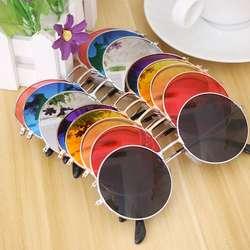 Женские модные ретро круглые пластиковые очки линзы солнцезащитные очки оправа очки Брендовые дизайнерские солнцезащитные очки дорожные