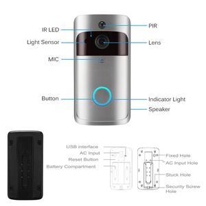 Image 3 - Smart IP wideodomofon bezprzewodowy dostęp do internetu wideo telefon drzwi dzwonek do drzwi wizjer wbudowaną kamerą WI FI do mieszkania IR alarmu bezprzewodowa kamera do monitoringu