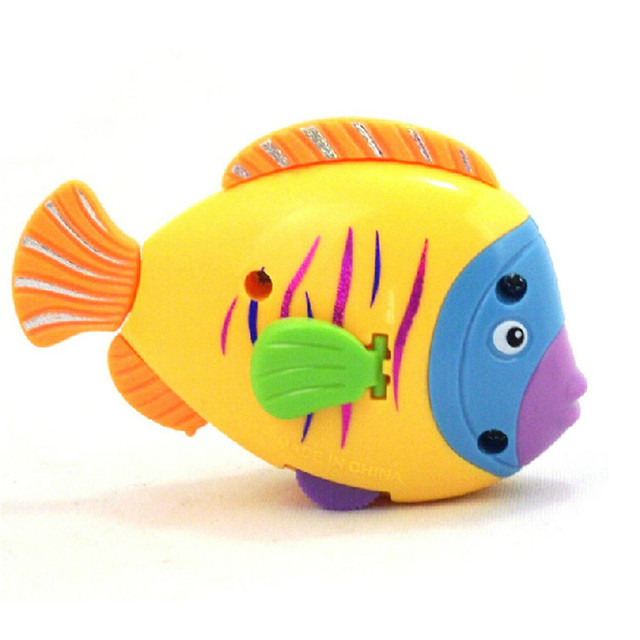 Baby Bath Toys For Kidsrandom color Chain On The Discus Fish Tail Moving ChildrenTake A bath Toy Dropshipping 2018