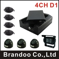4 Channel BUS DVR System DIY Installation 4 Cameras Recording Used On School Bus Taxi Truck