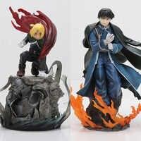 Anime Fullmetal alchimiste Edward Elric & Roy Mustang japonais Action Statue figurine Collection modèle jouets 16-22cm
