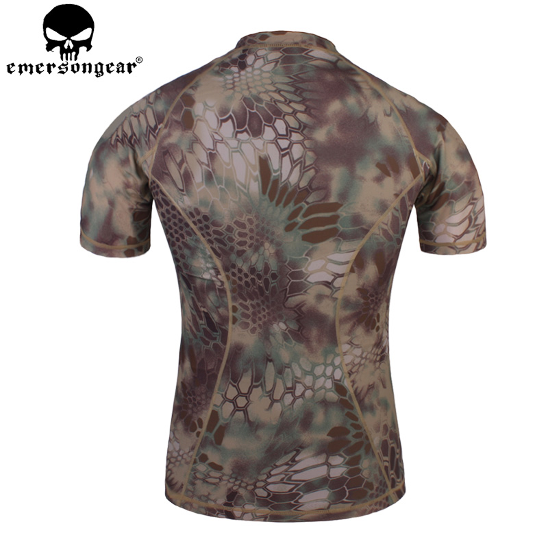 EMERSONGEAR Tactical Camouflage T-Shirt Camo Running Shirt Outdoor Sports Hunting Airsoft Breathable Short Sleeve Shirt EM8605