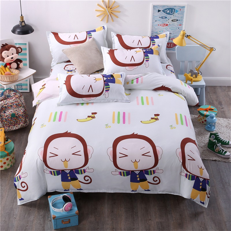 Simple and Natural Plant Lines Bedclothes Warm and Comfortable Bedding Sets King Queen S ...