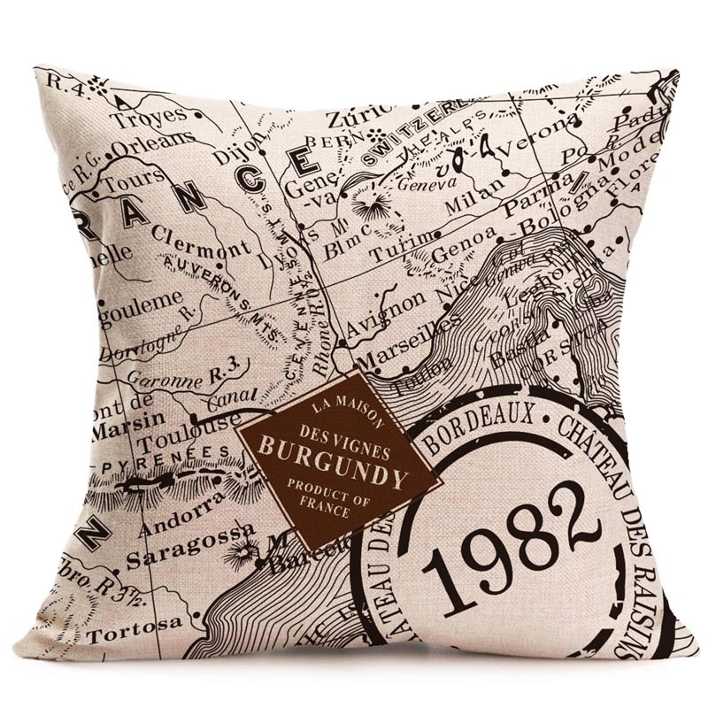 Decorative Paris Inspired Eiffel Tower Cushion Cover Neutral Chic Letter Pattern Throw Pillow Cover For Home Decor