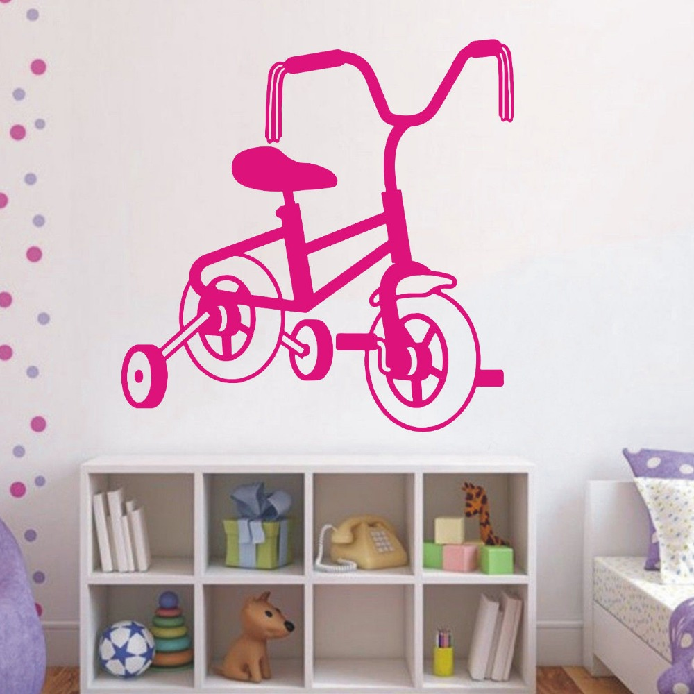 Hot selling wall vinyl art decal sticker kids bike room decoration rooms stickers