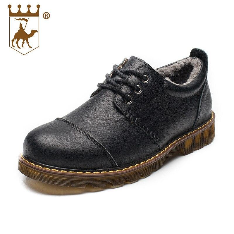 Impermeable Al Aire Cuero Más Genuino Negocio Hombres Terciopelo Libre Zapatos Cálido Los brown Black De Backcame Antideslizante Algodón Cómodo 45qZxp