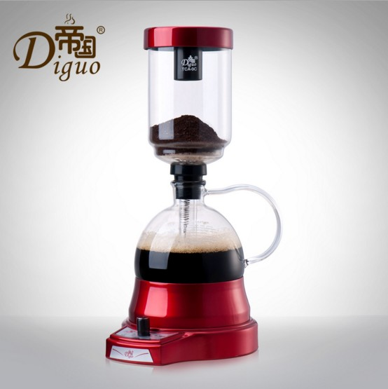 High Quality Electric Coffee Pot Electric Siphon Pot Home Coffee Maker Coffee Filter Pot Coffee Pot Set dmwd japanese style siphon coffee maker tea siphon pot vacuum coffeemaker glass hydrocone type coffee machine filter 3cup 5cups