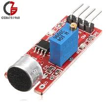 Высокочувствительный микрофон Звуковой Датчик Модуль обнаружения для Arduino AVR PIC DC 5V источник питания аналоговый выход