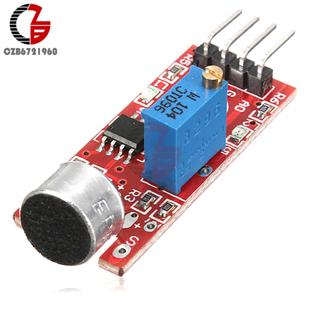 High Sensitive Microphone Sound Sensor Detection Module for Arduino AVR PIC DC 5V Power Supply Analog Output