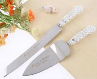 Free Shipping Personalized Wedding Resin Cake Knife Serving Set Custom Cake Knife Shovel Birthday Gift Party