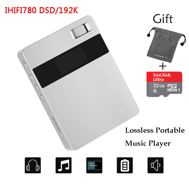 New XUELIN IHIFI780 Portable Audio Lossless HIFI Music Player 8G DSD64 192KHz Mini Sport MP3 Playe +32GTF Card+MP3 Bag 2016 brand new aigo eros q high quality dsd64 bluetooth 4 0 portable audio lossless hifi music player usb dac support otg