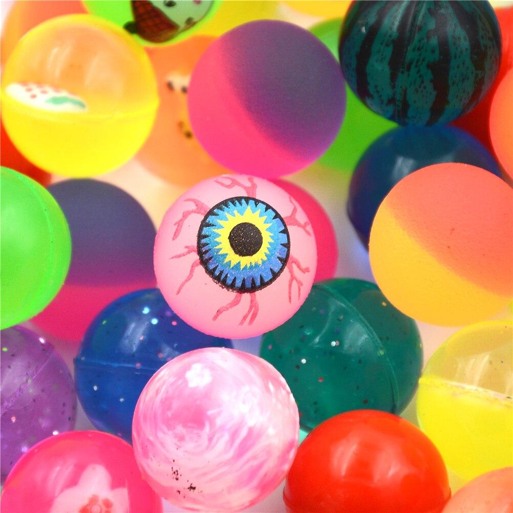 10pcs/lot Water Float Ball Toys Child Kid Elastic Rubber Ball Children Kids Pinball Bouncy Toys Mixed Bouncing Ball