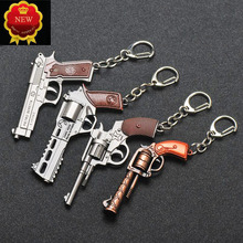 2019New Hot Car Key Signal Revolver Weapon Model Chain hanging Jewelry Hanging Bag Accessories Rings Keychain