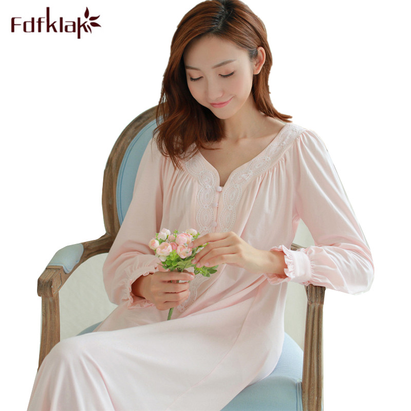 Fdfklak Maternity Sleepwear Pregnancy Dress Loose Pregnant Women Clothes Long Sleeve Nightdress Maternity Nightgown Nightwear free shipping 380 boat motor with shaft propeller kit shaft assembly spare parts for diy rc electric boat model 10 15 20 25 30cm