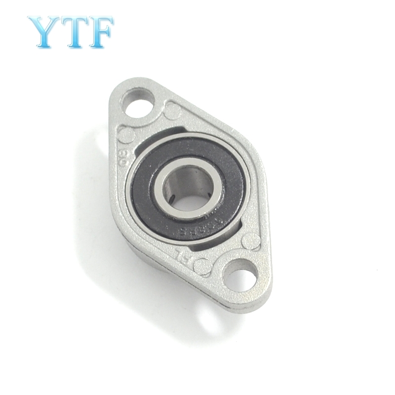 3D Printer /& CNC 1Pcs KFL000 FL000 Self-aligning Flange Block Bearing 10mm Bore
