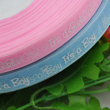 1/2  Mix Color ribbon Boy/girl baby show Craft Pink&Blue Upick 5Y