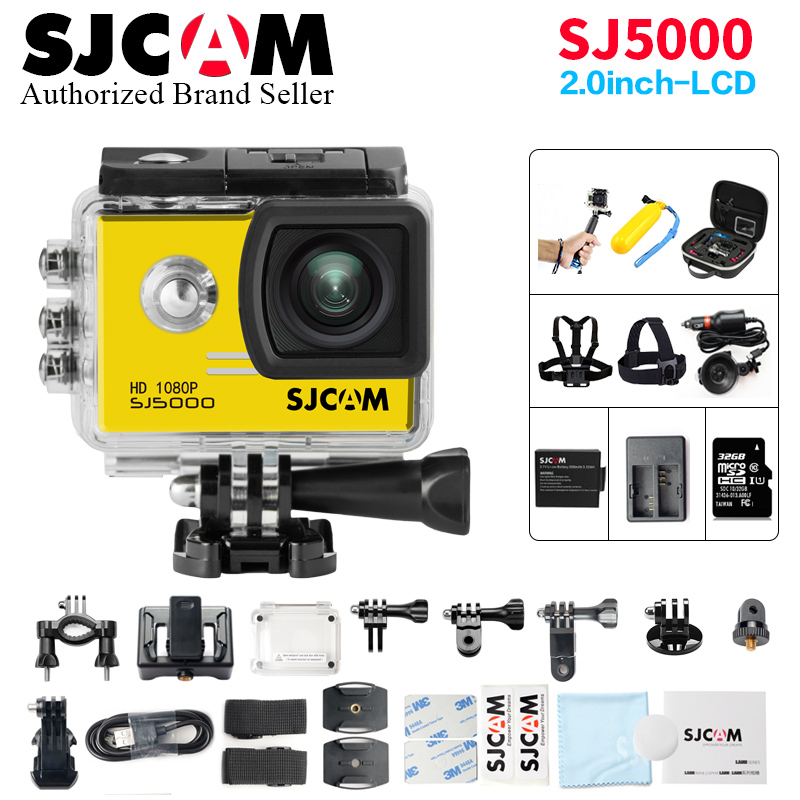 Original SJCAM SJ 5000 2.0 LCD Screen NTK96655 Action Camera Upgrade SJ CAM sj 4000 30m Waterproof better go pro Mini Sport DV
