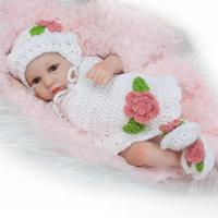 10/28 cm Lovely Miniature Baby Dolls Reborn Girl Baby Doll Soft Vinyl Silicone Body Reborn Baby Dolls for Girls Cheap