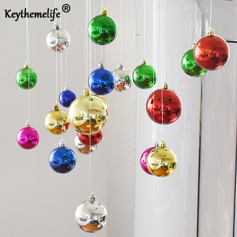 Keythemelife 24pcs/Barrel Christmas Tree Ball Baubles Xmas Party Wedding Hanging Ornamen ...