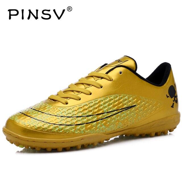 ed8dbfa752a PINSV Football Boots New Indoor Soccer Turf Soccer Shoes Kids Superfly Men  Boots Football Zapatos De Futbol Con Tobilleras