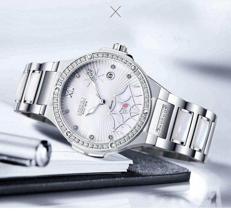 Reloj de marca de lujo de Suiza, relojes de pulsera de diamantes para mujer, relojes de cuarzo, reloj femenino, reloj araña N9910 2-in Relojes de mujer from Relojes de pulsera    2