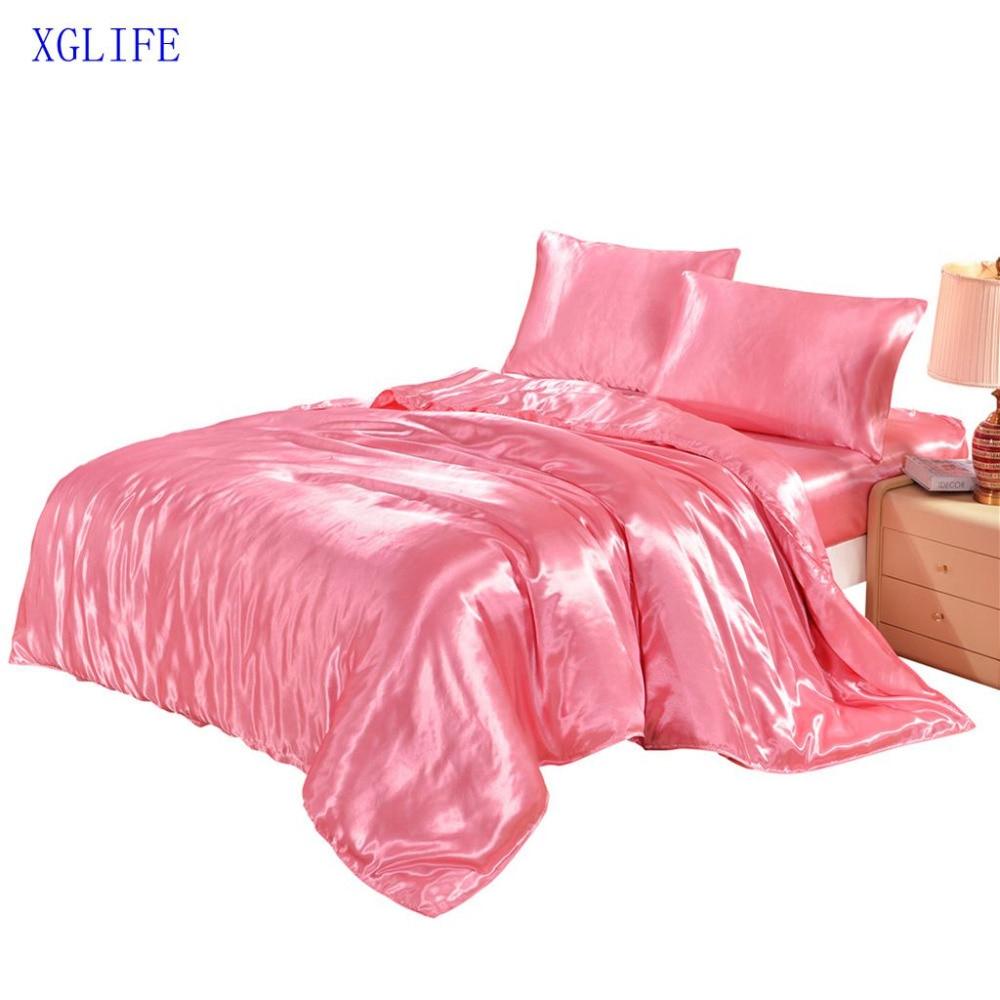 LISM couleur unie housse de couette ensemble de literie maison textile linge de lit ensemble vêtements de lit literie douce soyeuse literie pleine taille