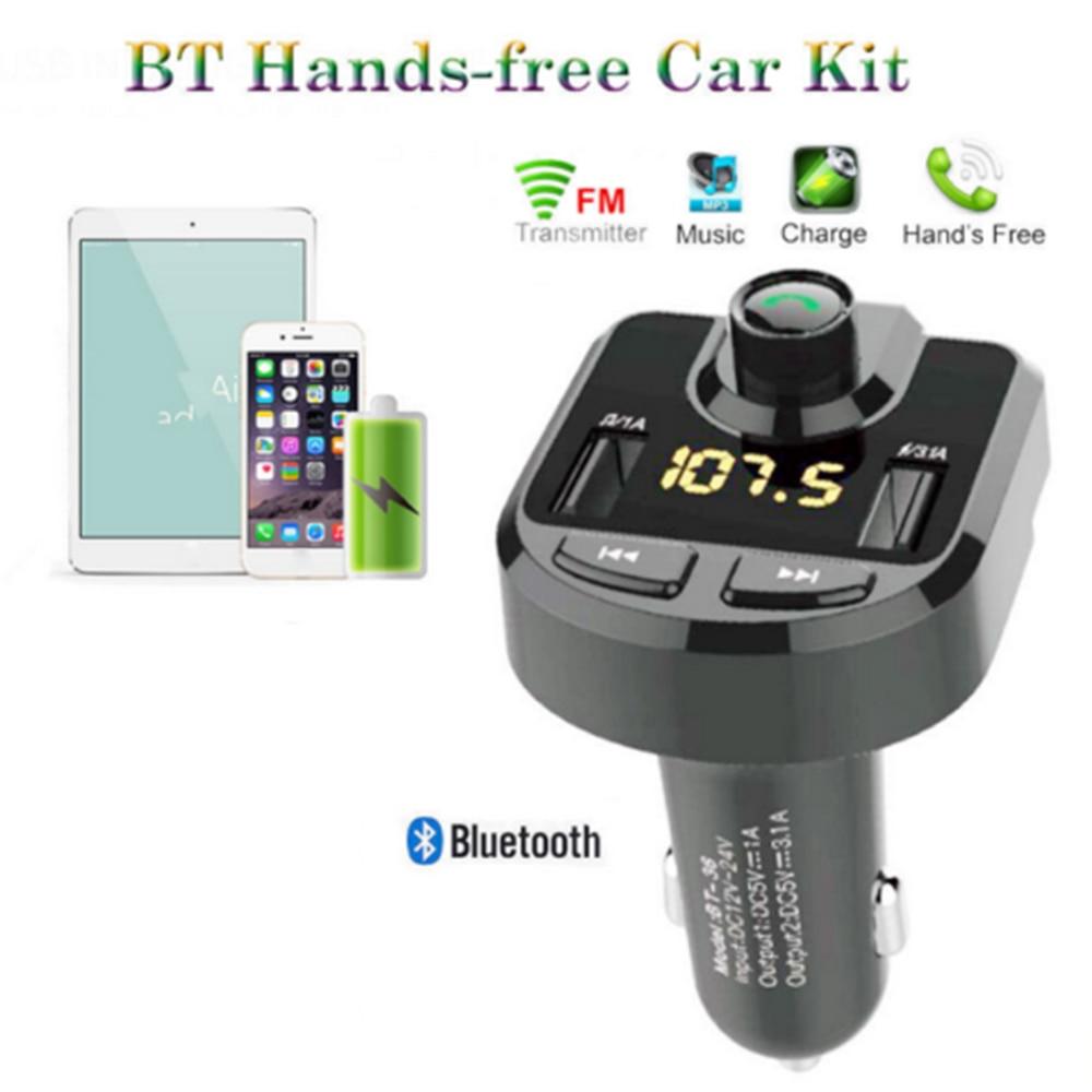 12/24 V Auto Zigarette Leichter Dual Usb Ladegerät + Wireless Bluetooth Fm Radio Sender Mp3 Player Hände Frei Aufruf Durchblutung Aktivieren Und Sehnen Und Knochen StäRken