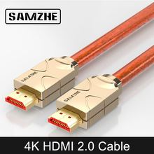 SAMZHE 4K HDMI to HDMI 2 0 Cable HDMI to AV Cable Connector for Laptop Tv