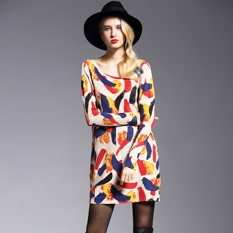 XIKOI oversize երկար կանանց սվիտեր - Կանացի հագուստ - Լուսանկար 3